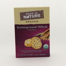 Back to Nature Organic Stoneground Wheat Crackers USDA Organic  and  Contains Organic Stoneground Wheat Flour Safflower Oil Whole Brown Flax Seed  and  Sea Salt 6 oz
