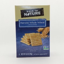 Back to Nature Harvest Whole Wheat Crackers. Whole Wheat Safflower Oil  and  Sea Salt