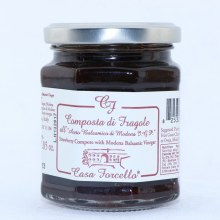 Casa Forcello Strawberry Compote with Modern Balsamic Vinegar  8 oz