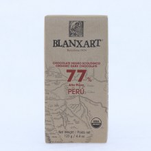 Blanxart Organic Dark Chocolate made with 77% cocoa, Alto Piura  4.4 oz