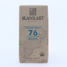 Blanxart Organic Dark Chocolate made with 76% Cocoa, Brasil 4.4 oz