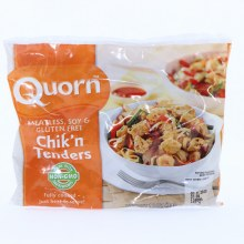 Quorn Chikn Tenders. Meatless Soy  and  Gluten Free. Non GMO.  12 oz