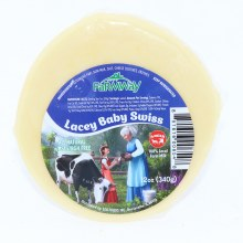 Farmway All Natural Lacey Baby Swiss Cheese, Amish  12 oz