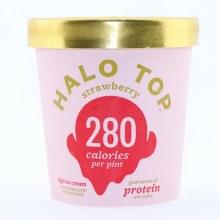 Halo Top Light Ice Cream, Strawberry Flavor 473 ml