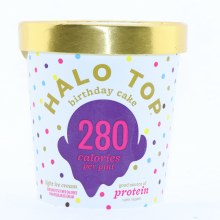 Halo Top Birthday Cake