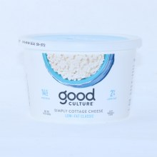 Good Culture Simply Cottage Cheese 2Per Cent Low Fat Gluten Free
