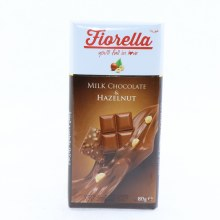 Fiorella Milk Chocolate & Hazelnut Bar 80 gr