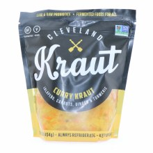 Cleveland Kraut  Curry Kraut  Jalapeno  Carrots  Ginger and Turmeric  Raw and Live Probiotics  Gluten Free and Vegan 16 oz