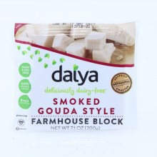 Daiya Smoked Gouda Style Farmhouse Block Dairy  and  Soy Free Good Source of Calcium 0mg of Cholesterol Gluten Free 7.1 oz