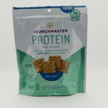 Crunchmaster Sea Salt Protein Snack Crackers. Whole Grain and 5 grams of Protein.