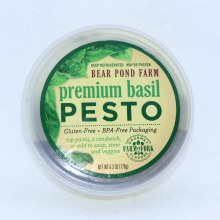 Bear Pond Farm Premium Basil Pesto Gluten Free and BPA Free Packaging 6.3 oz