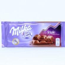 Milka Milk Chocolate Confection Bar With Triple Choco Cocoa