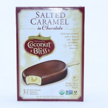 Coconut Bliss Salted Caramel in Chocolate Frozen Bars Dairy Soy  and  Gluten Free Vegan Non GMO 3 Bars 3 bars
