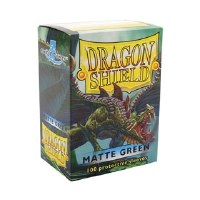 Dragon Shield Green Matte Standard Sleeves (100)