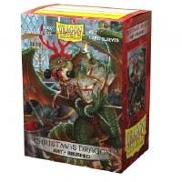 Dragon Shield Brushed Art Sleeves - Christmas Dragon 2020