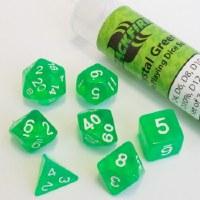 Blackfire RPG Dice Set of 7 Crystal Green