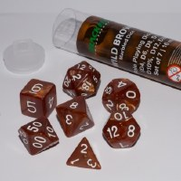 Blackfire RPG Dice Set of 7 Wild Brown