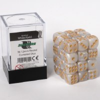 Blackfire Dice Cube 36 x D6 Marbled White Gold