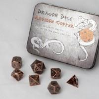 Blackfire Dice Metal Dice Set Antique Copper (7 Dice)