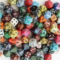 Chessex Dice Assortments Pound-o-Dice (80-100 Dice)