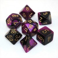 Chessex Gemini Polyhedral 7-Die Set Black-Purple w/ Gold