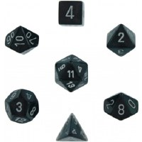 Chessex Borealis 7-Die Set Smoke w / Silver