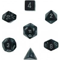 Chessex Borealis Polyhedral 7-Die Set - Smoke/Silver