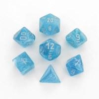 Chessex Cirrus Polyhedral 7-Die Set - Aqua/Silver