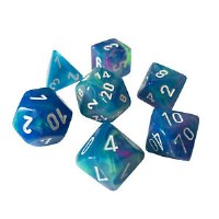Chessex Festive Polyhedral 7-Die Set Waterlily w / White