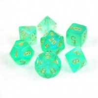 Chessex Borealis Polyhedral 7-Die Set - Light Green/Gold