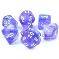 Chessex Borealis Polyhedral 7-Die Set - Purple/White