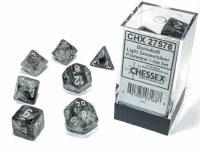 Chessex Borealis Polyhedral 7-Die Set Light Smoke/Silver