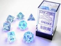 Chessex Borealis Polyhedral 7-Die Set Icle Light Blue Lumina