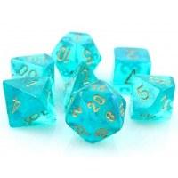 Chessex Borealis Polyhedral 7-Die Set - Teal/Gold