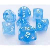 Chessex Borealis Polyhedral 7-Die Set - Sky Blue/White