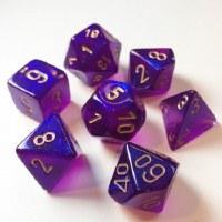 Chessex Borealis Polyhedral 7-Die Set - Royal Purple/Gold