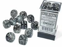 Chessex Borealis 16mm d6 Dice Set - Light Smoke/Silver