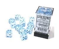 Chessex Borealis 16mm d6 Dice Set - Icicle/Light Blue