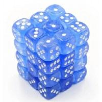 Chessex Borealis Luminary 12mm D6 Blocks Blue/White