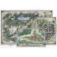 "D&D Curse of Strahd: Map Set(24""x16"", 9""x12"", 8""x13"")"