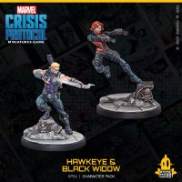 Marvel Crisis Protocol Hawkeye and Black Widow EN