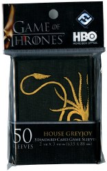 Game of Thrones House Greyjoy Standard Size Sleeves (50)