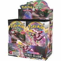 Pokemon Sword & Shield Rebel Clash Booster Display English