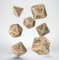 Call of Cthulhu Beige & black Dice Set (7)
