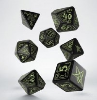 Call of Cthulhu Black & glow-in-the-dark Dice Set