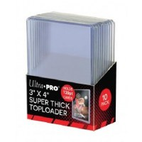 "Ultra Pro Toploader 3"" x 4"" Super Thick 120PT M 10 Pieces"