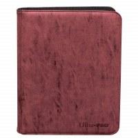 Ultra Pro 9-Pocket Premium Pro Binder Zipper - Ruby