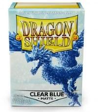 Dragon Shield Clear Blue Matte Standard Sleeves (100)