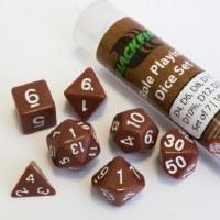 Blackfire RPG Dice Set of 7 Brown