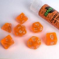 Blackfire RPG Dice Set of 7 Crystal Orange